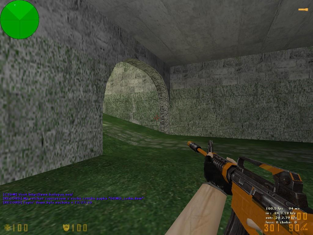 دانلود اسکین مشکی نارنجی برای M4