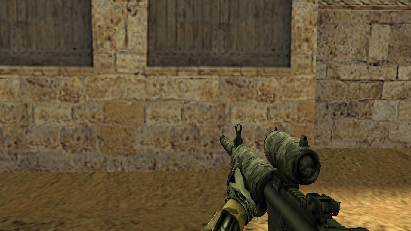 اسکین اسلحه ی دوربین دار برای M4