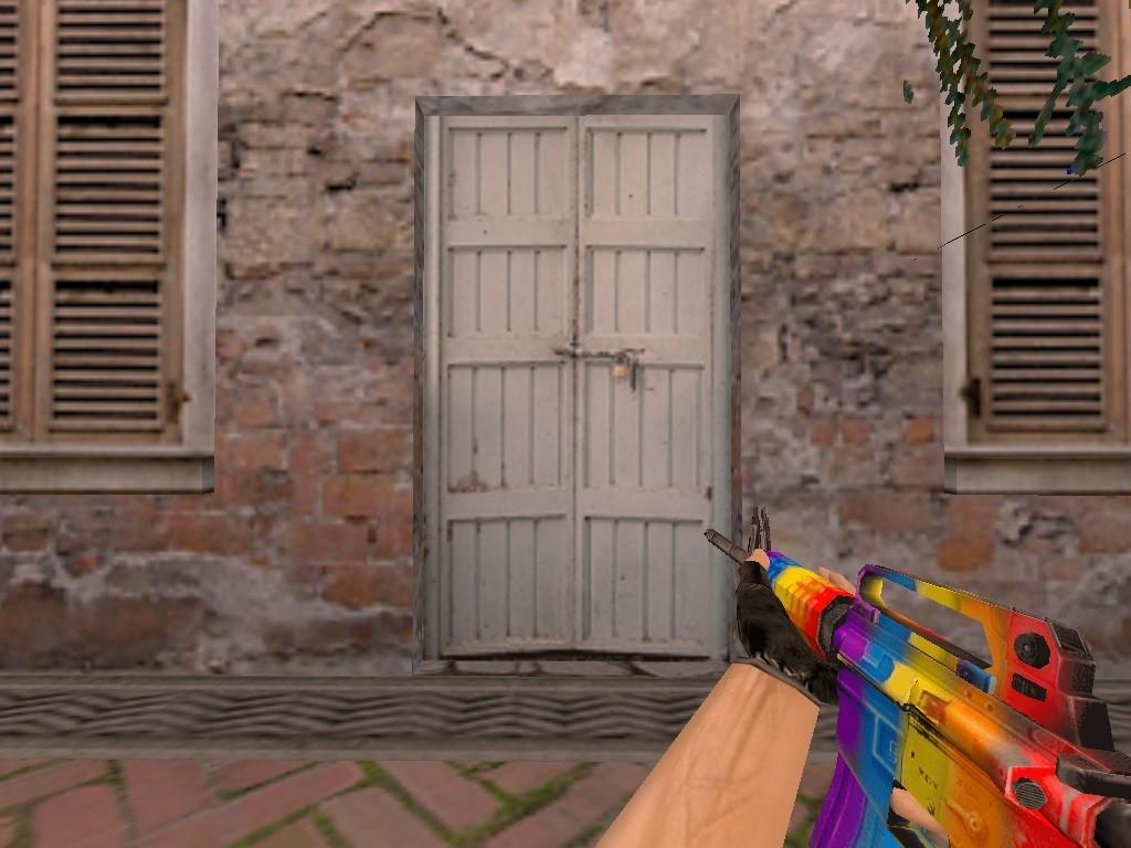 دانلود اسکین زیبای رنگین کمان برای m4