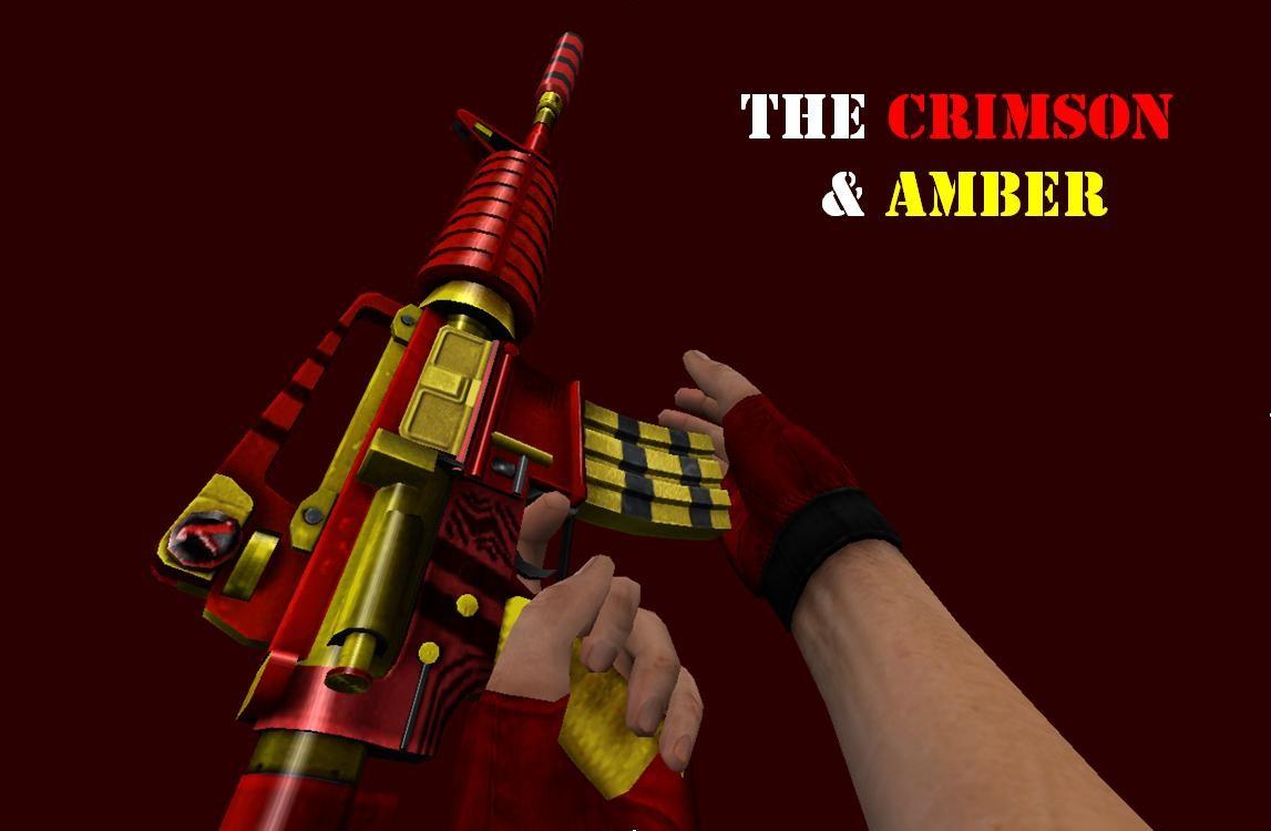 دانلود اسکین زرد و قرمز باحال m4