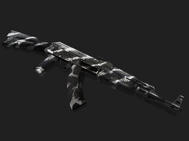 دانلود اسکین سفید مشکی برای Ak47