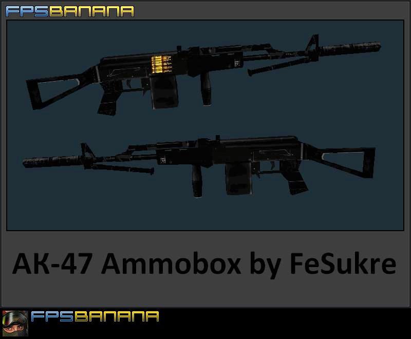 دانلود اسکین طرح 100 تیر برای Ak47