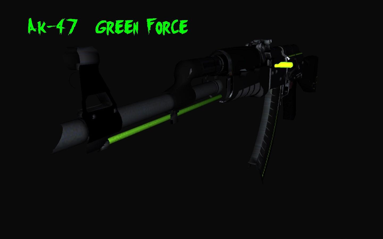 دانلود اسکین AK47 Green force