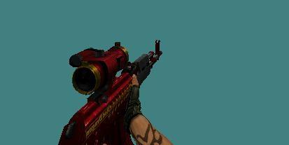 دانلود اسکین AK47 red Dragon
