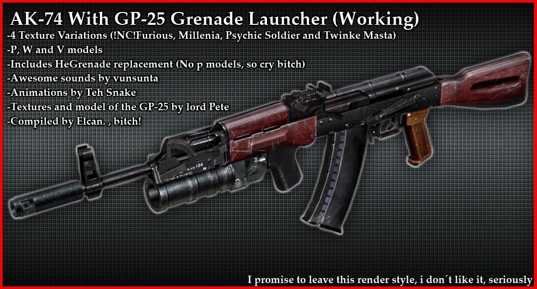 دانلود اسکین AK74 راکت انداز