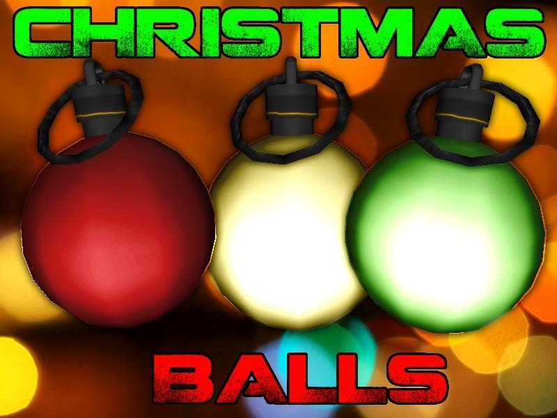 دانلود اسکین ایتم (سه ایتم) توپ کریسمس