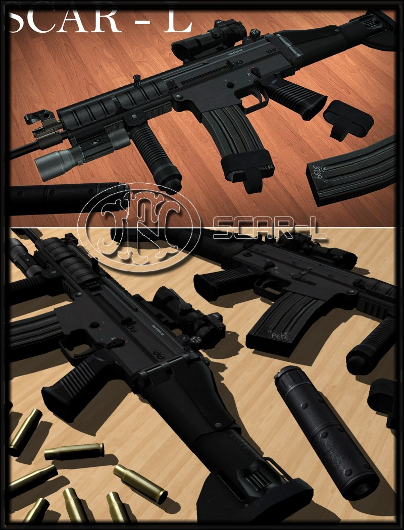 دانلود اسکین اسلحه Scar-L برای AK47