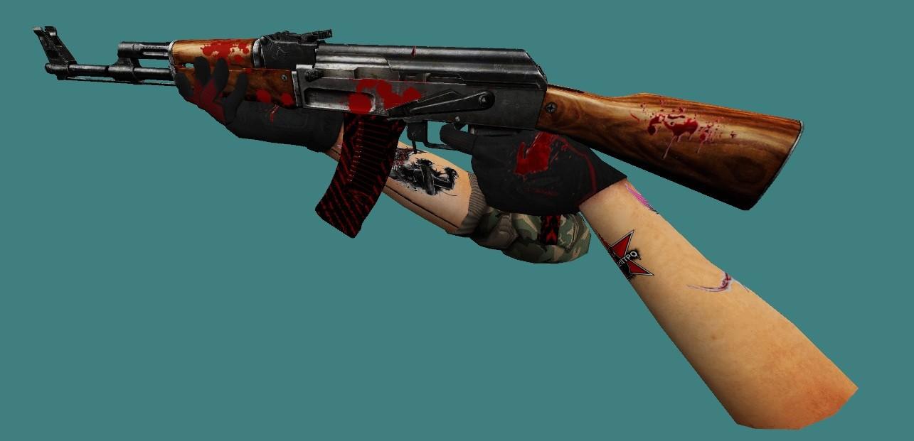 دانلود اسکین طبیعی AK47
