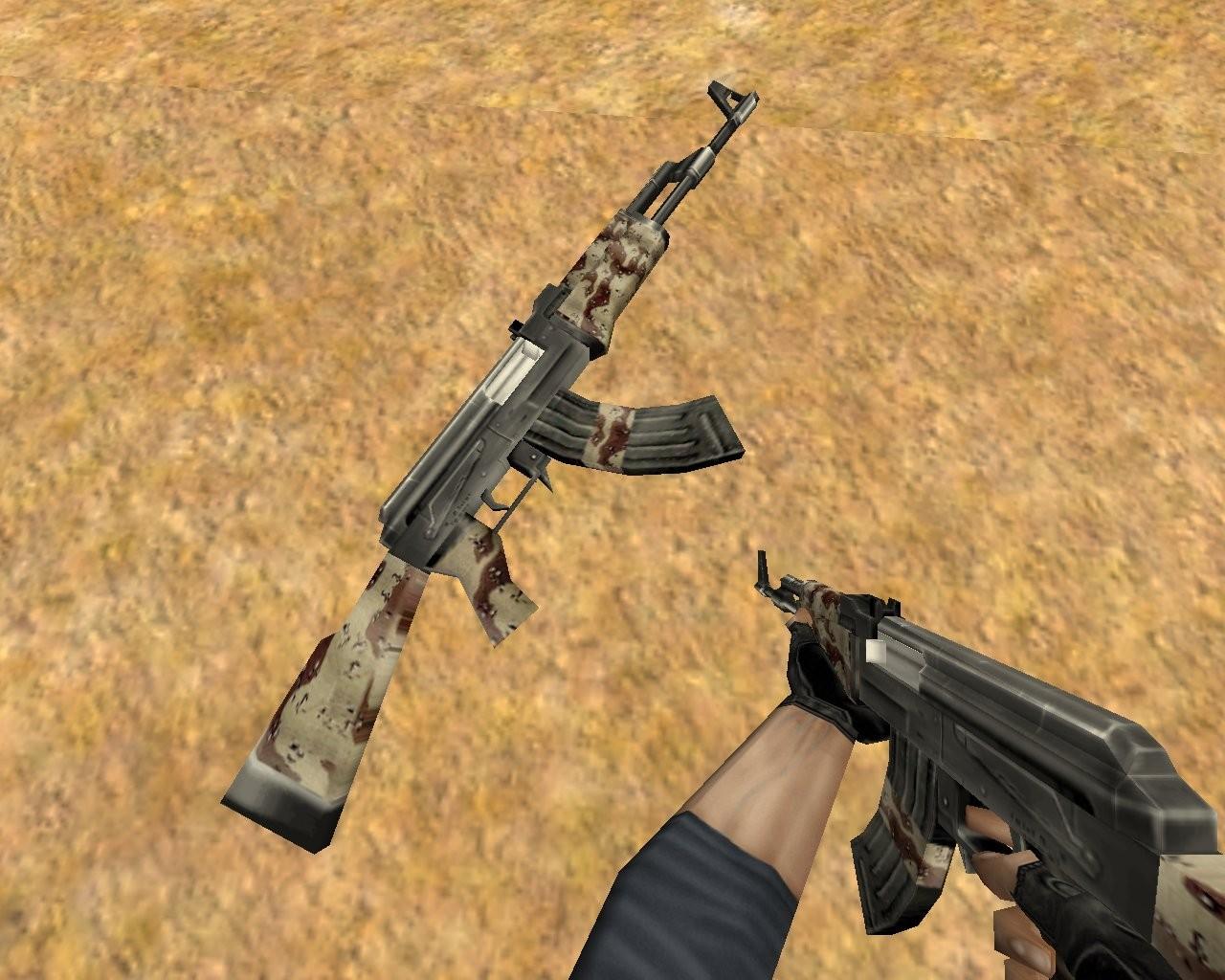 دانلود اسکین طرح کماندوی کویری برای AK47