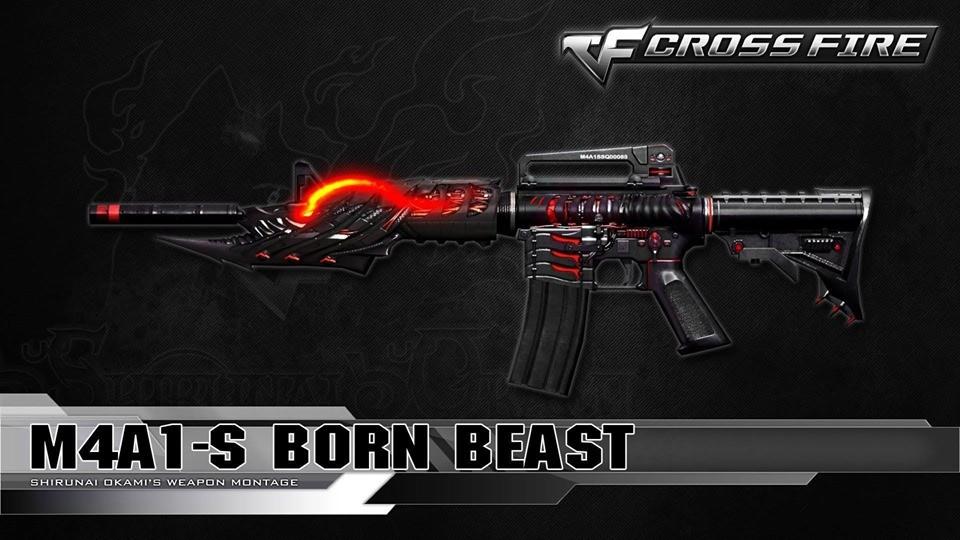 دانلود اسکین m4a1-s-born-beast برای AK47