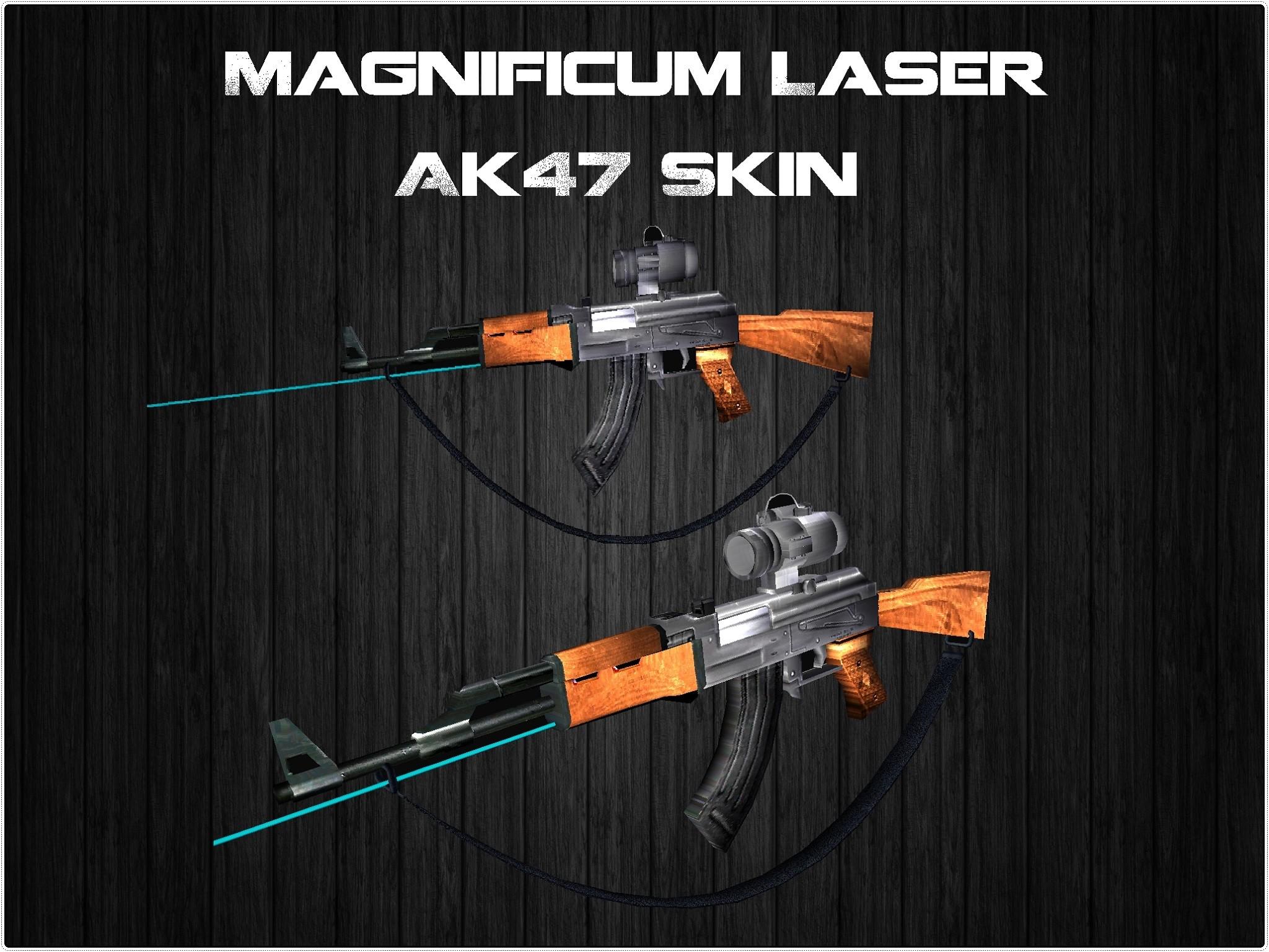 دانلود اسکین magnificum laser برای AK47