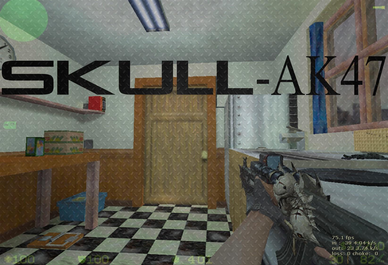 دانلود اسکین جمجمه برای AK47