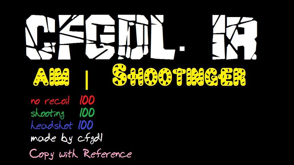 سی اف جی aim shootinger sXe Injected 15.7