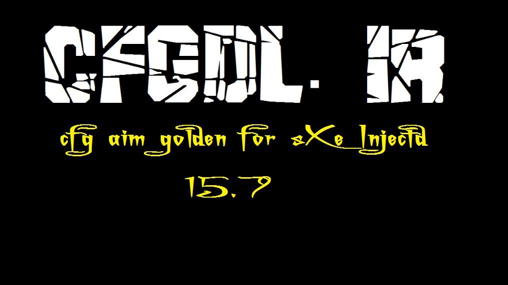 دانلود سی اف جی aim golden برای sxe Injected 15.7