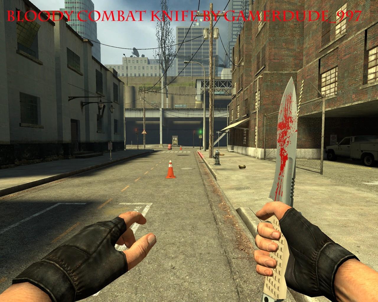دانلود اسکین Bloody Combat Knife  برای کانتر سورس