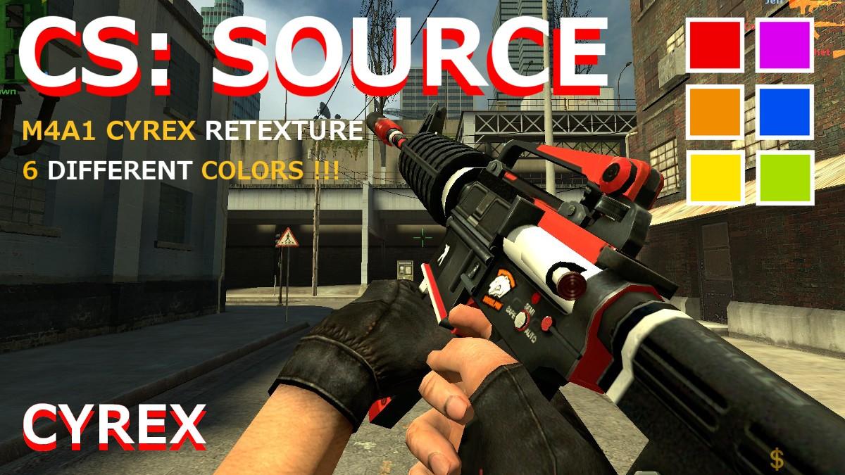دانلود اسکین M4A1 | Cyrex Retexture برای کانتر سورس
