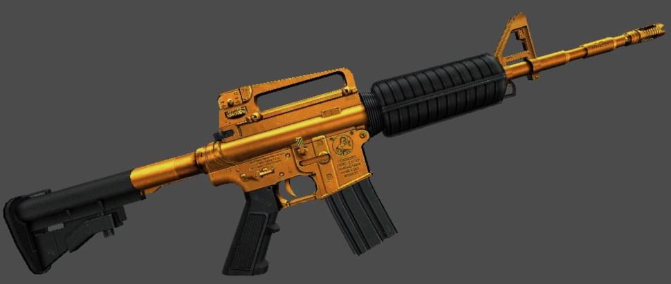 دانلود اسکین M4A1 | Gold برای کانتر سورس