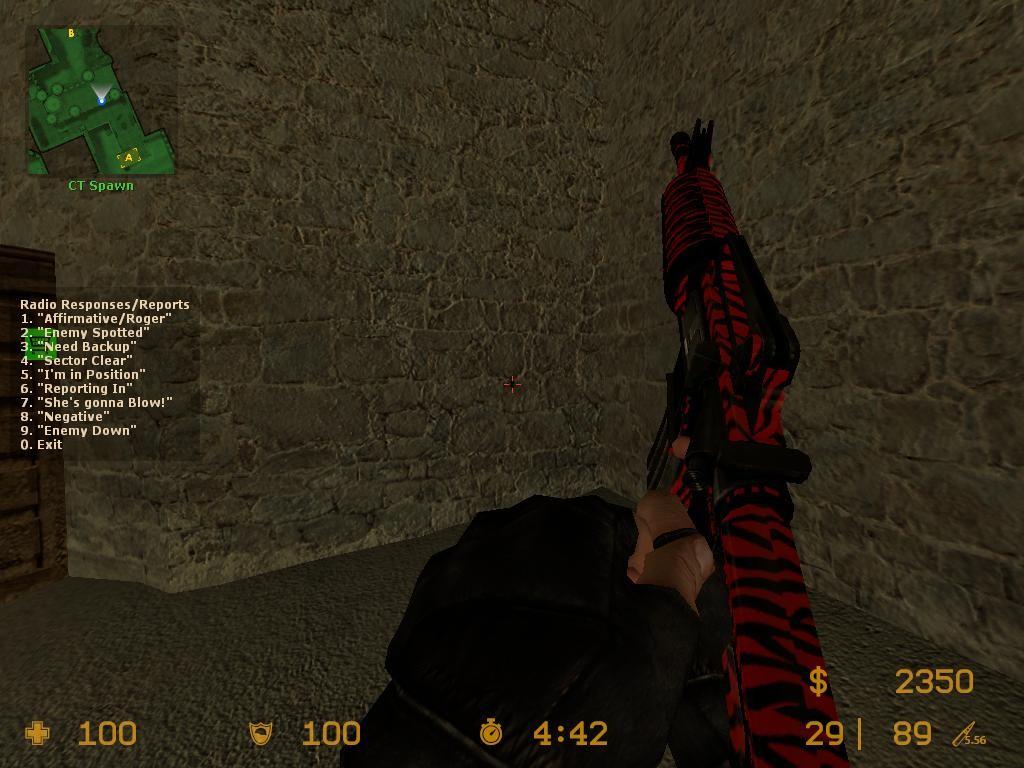 دانلود اسکین M4A1 | RED TIGER برای کانتر سورس