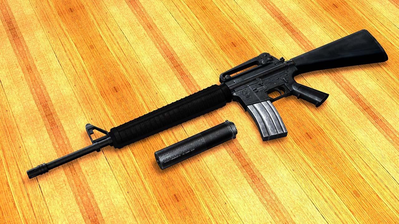 دانلود اسکین M16A4 برای M4 کانتر سورس