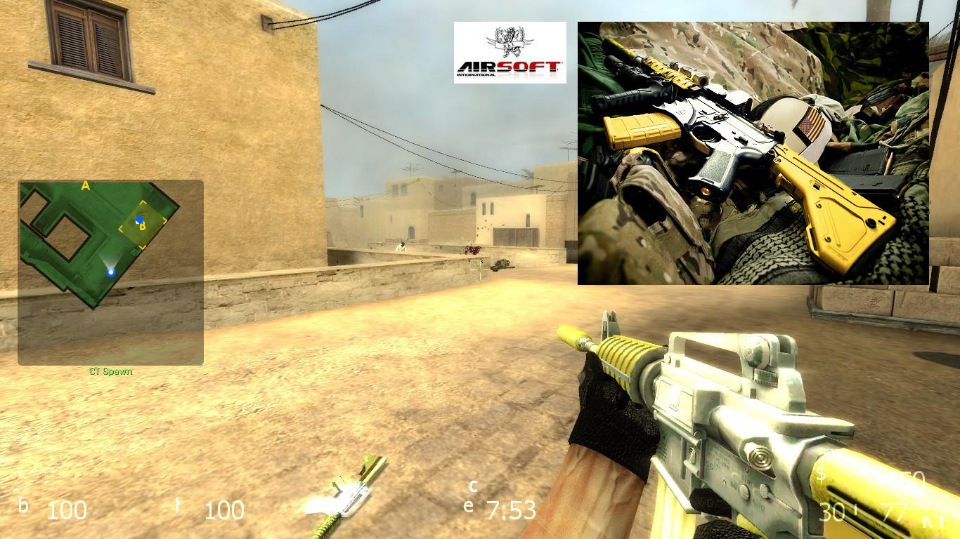 دانلود اسکین Sports M4a1 Airsoft برای کانتر سورس