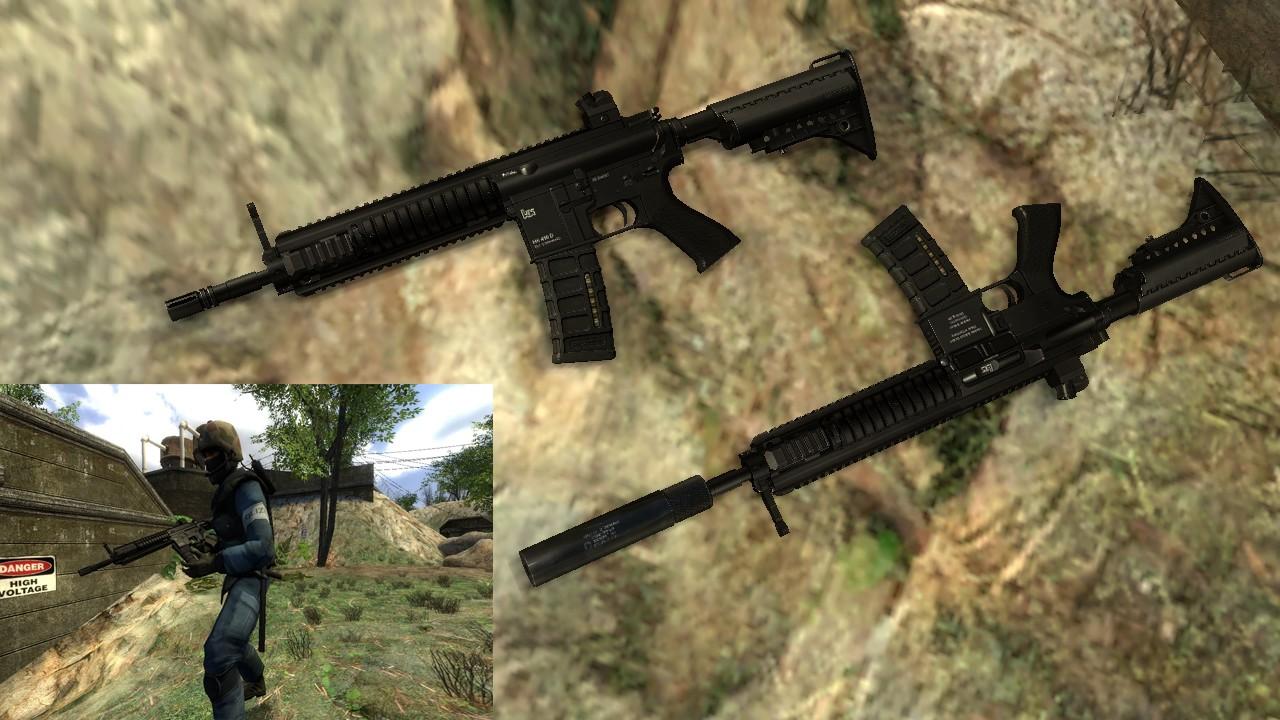 دانلود اسکین MANTUNA'S HK416 ANIMATIONS برای کانتر کانتر سورس