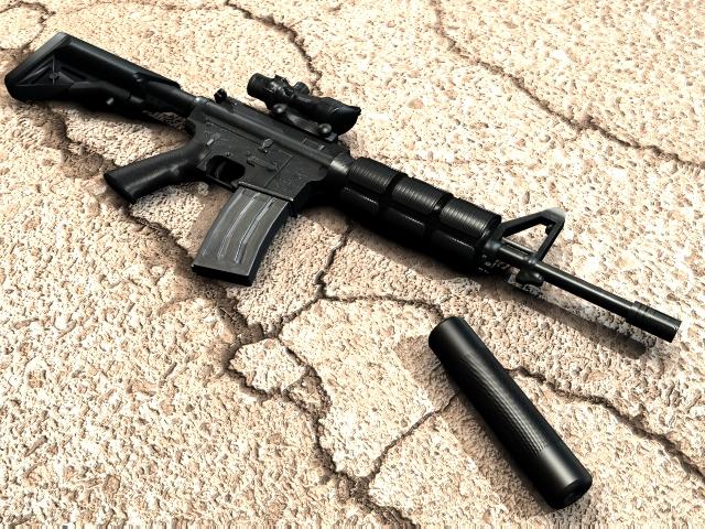 دانلود اسکین M4A1 I'm Legend برای کانتر سورس