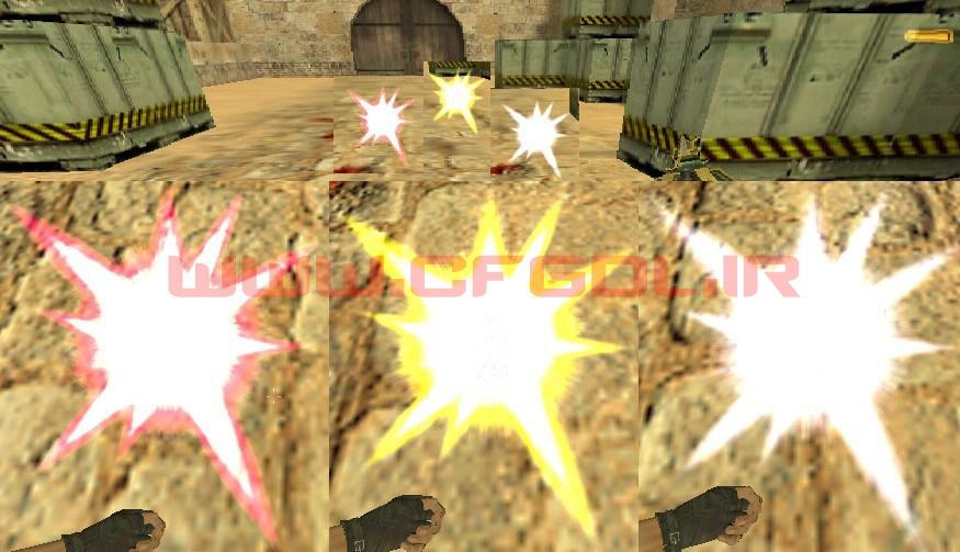دانلود پک Sprite Led Glow C4 برای کانتر استریک 1.6
