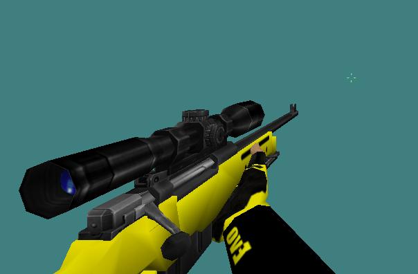 دانلود اسکین Awp | Yellow برای کانتر استریک 1.6