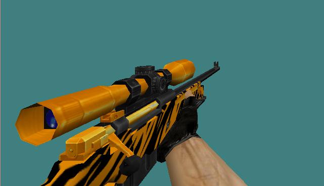 دانلود اسکین Awp | Gold Tiger برای کانتر استریک 1.6