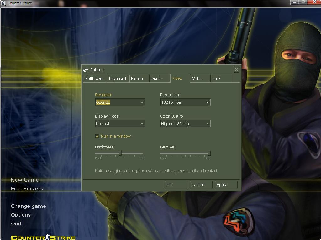 اموزش تصویری ویندوز مد کردن کانتر استریک 1.6