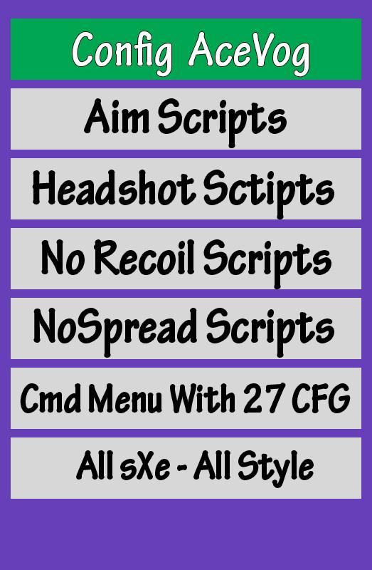 فروش کانفیگ AceVog + CMD MENU | All sXe | CS 1.6